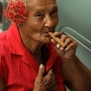 Old lady with a sigar